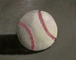 Baseball, contemporary fine art acrylic painting
